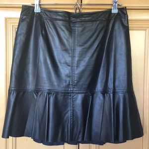 Faux Leather Ruffled Skirt